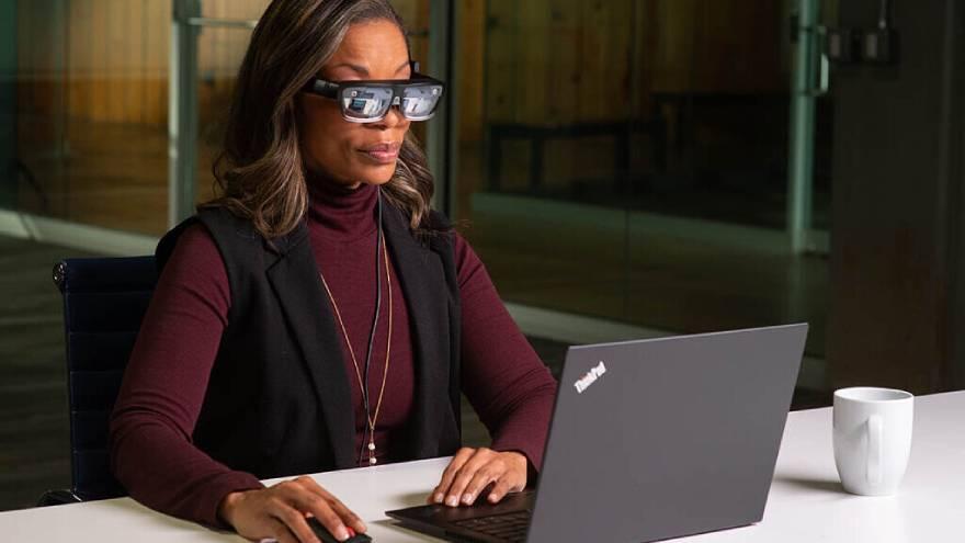 Las lentes permiten crear pantallas virtuales