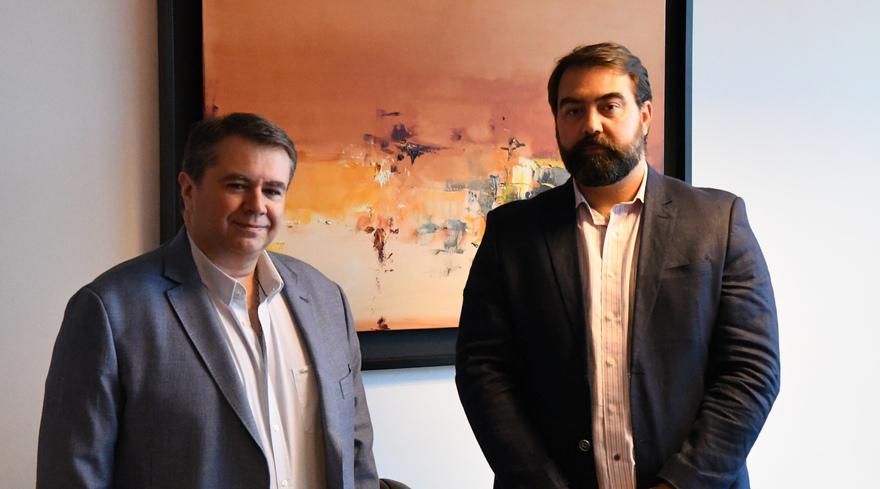 Mauricio Castellanos, gerente comercial, y Sebastián Dorrego, gerente general