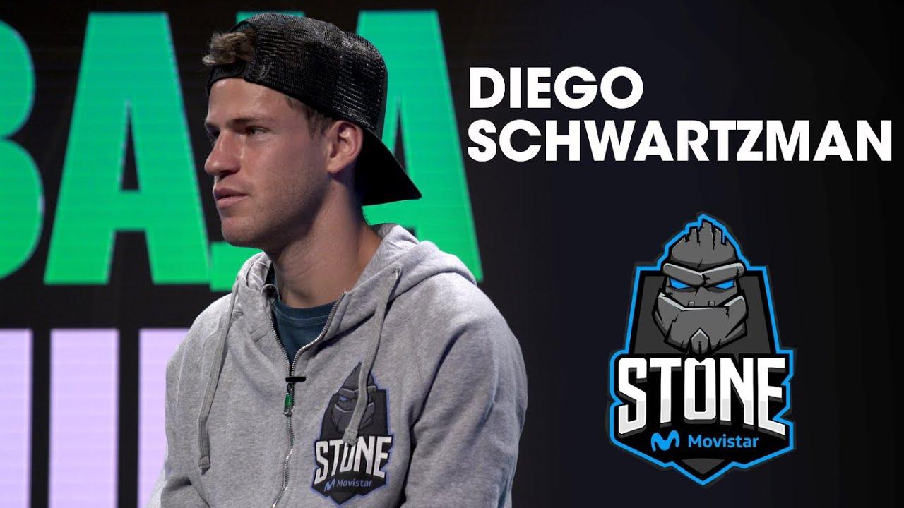 El Peque Schwartzman salió a la arena online con Stone Movistar