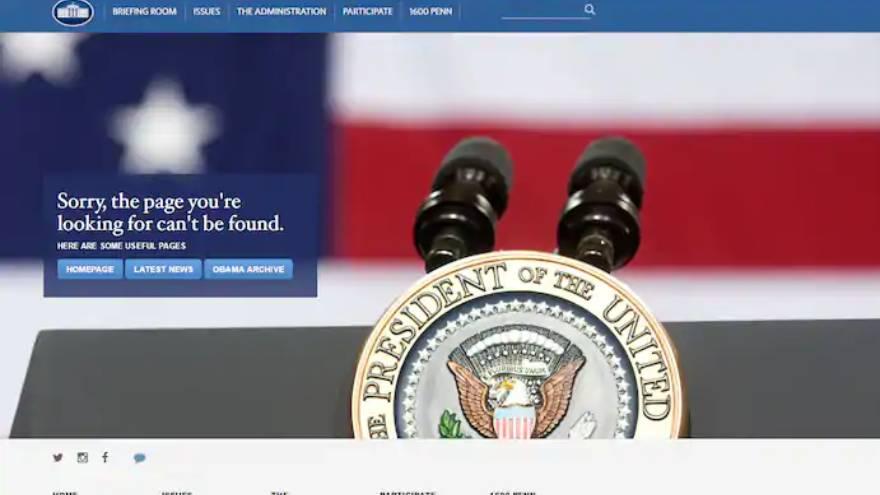 Así apareció el sitio en español de la Casa Blanca en 2017