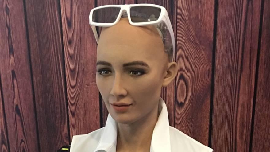 El robot simula más de 60 expresiones faciales diferentes, rastrea y reconoce caras