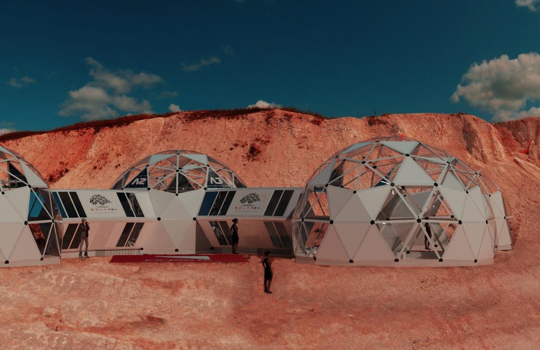 Base del proyecto 'Solar 54' en Los Colorados, provincia de La RiojaCortesía de Martín Bueno, cofundador del proyecto