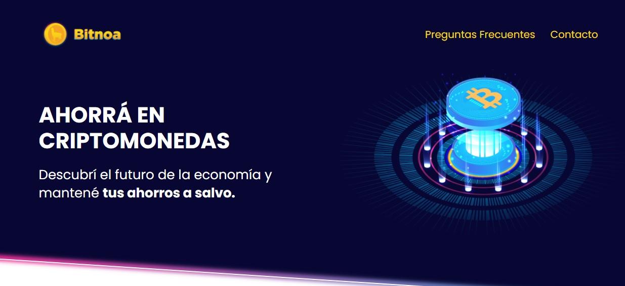 Display de la plataforma de Bitnoa