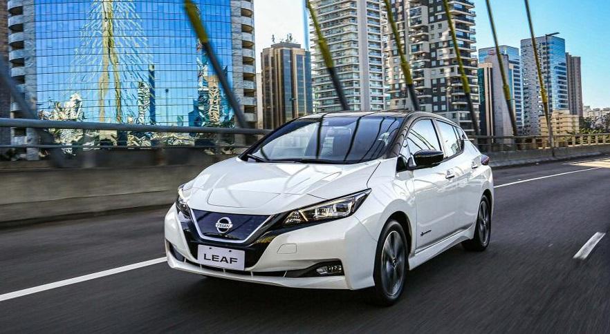 Nissan Leaf, en venta en Argentina desde 2019.