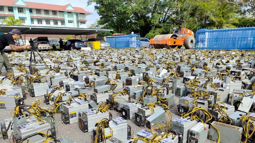 Malezja: władze niszczą kompleks wydobywczy bitcoin