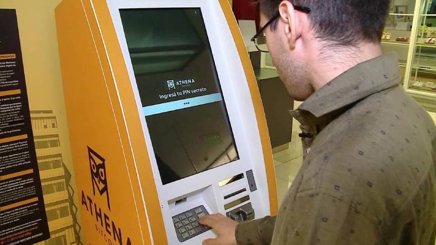 Athena is the company in charge of crypto ATMs in Argentina