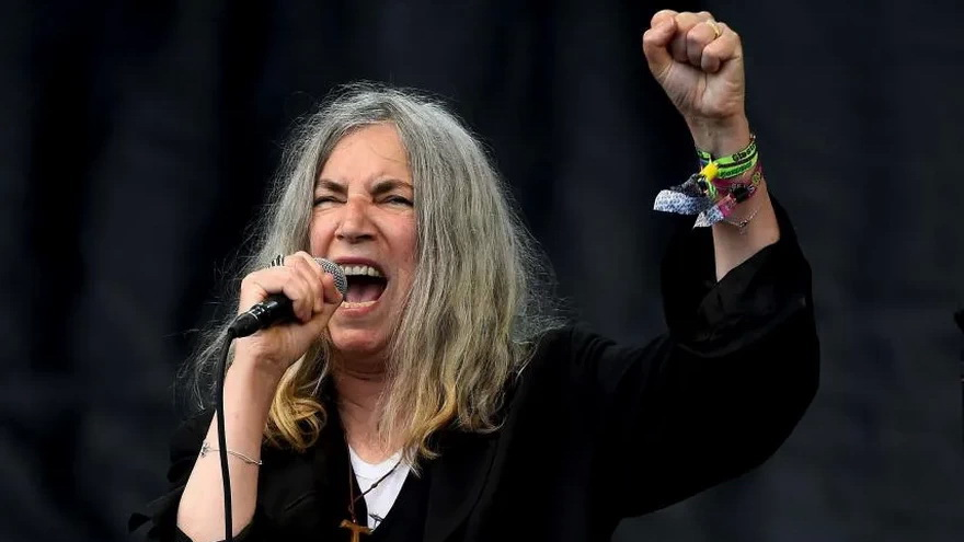 Singer Patti Smith, during a concert