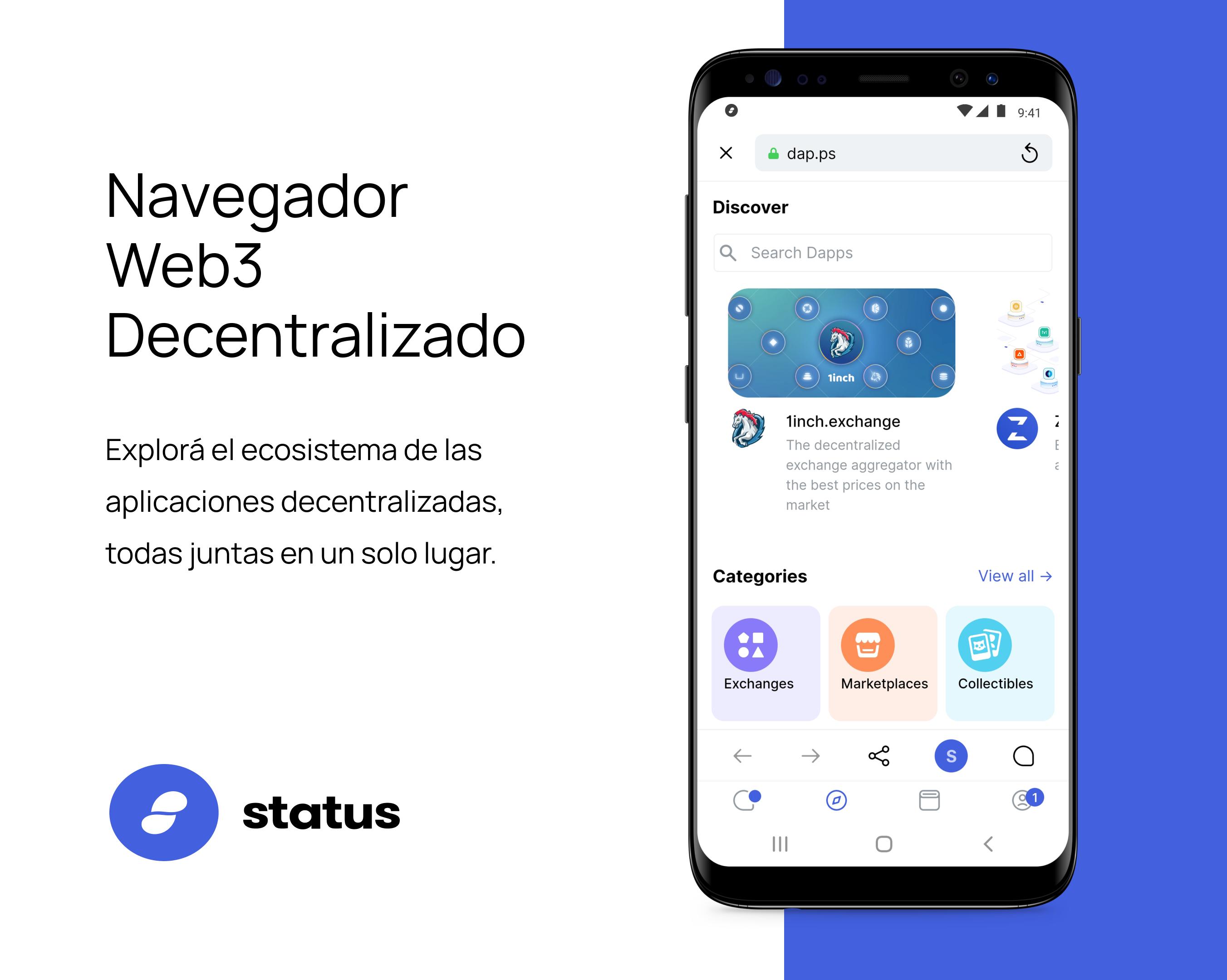 Status es una billetera cripto que permite a usar protocolos DeFi de manera privada