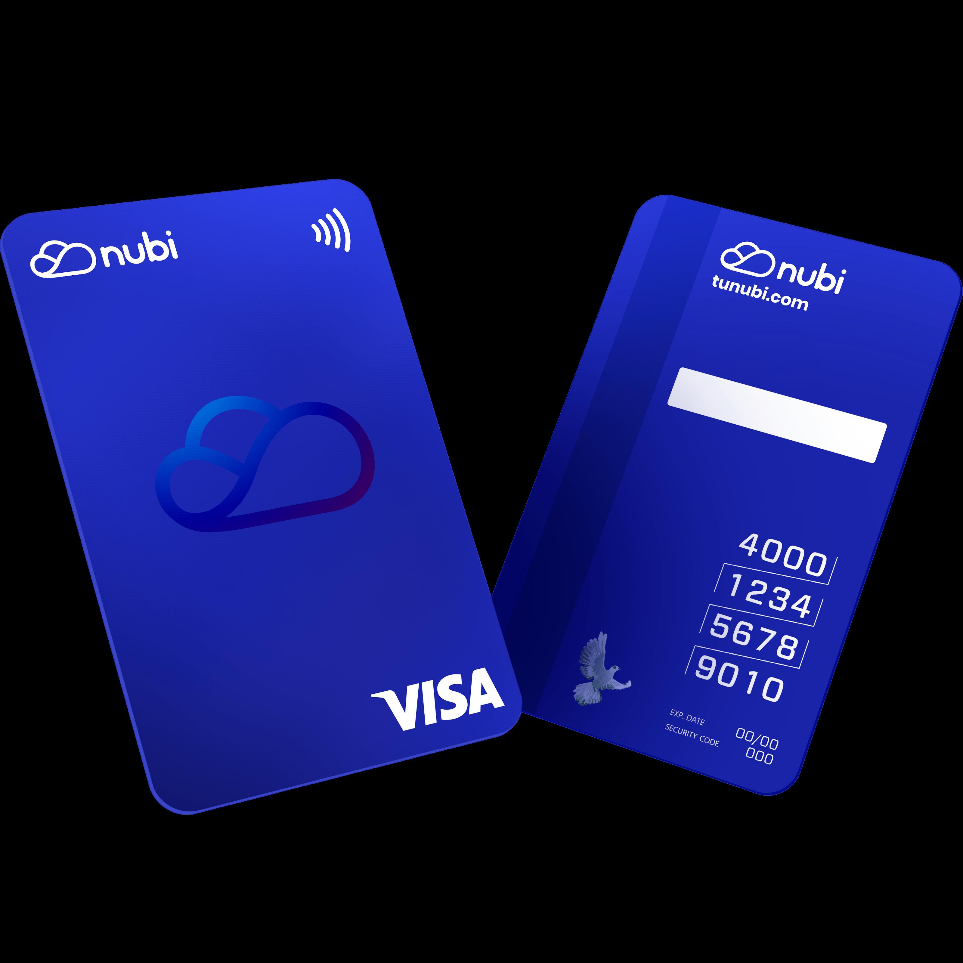 La tarjeta prepaga Visa de Nubi será la primera con diseño vertical